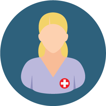 dark blue nurse icon