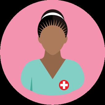 pink nurse icon